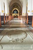 Uppsala, Sweden - September 17: Details And Architecture In Swedish Old Cathedral In Uppsala. Septem