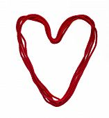 Heart From Red Rope