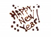 Happy New Year, Modern-style Inscription, Can Be Used As A Label For Something Tasty And Delicious,
