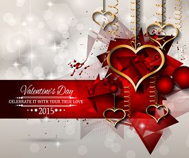 picture of dinner invitation  - San Valentines Day background for dinner invitations - JPG