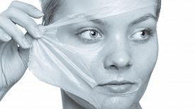 image of face mask  - Beauty skin care cosmetics and health concept - JPG