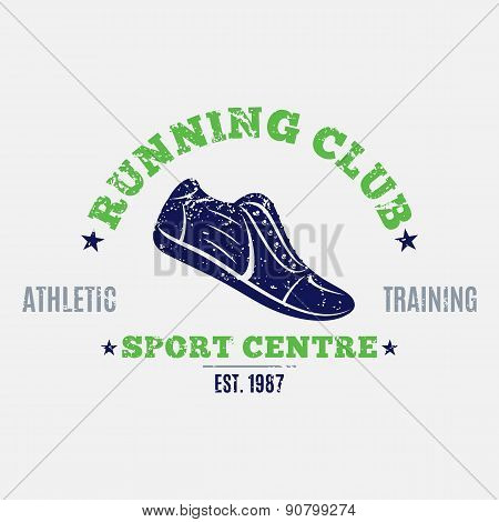 Retro Styled Running Club Label or Emblem Template Poster ID:90799274
