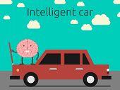image of hoods  - Intelligent car concept - JPG
