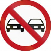 pic of traffic rules  - An official Colombian traffic sign - JPG