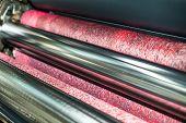 pic of machine  - Water roller on offset printing press machine - JPG