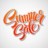 image of orange  - Summer sale message on orange background EPS 10 - JPG