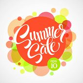 image of circle shaped  - Summer sale - JPG