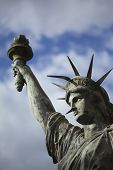 image of statue liberty  - Damaged copy of the Statue of Liberty - JPG
