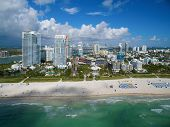 picture of drone  - Aerial Miami Beach drone photo taken over the ocean - JPG