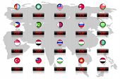 picture of dirhams  - Countries flags with official currency symbols - JPG