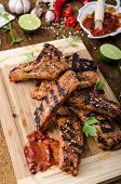 picture of marinade  - Ribs in spicy marinade with chilli honey and beer - JPG