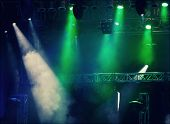 stock photo of stage decoration  - Colorful stage lights - JPG