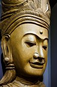 picture of carving  - Abstract Cambodia wood carving art in Thailand - JPG