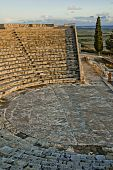 High Angle View Of A Roman Amphitheater, Kourion, Limassol, Cyprus