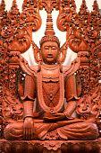 Buddha Image In Shwedagon Temple,yangon,myanmar