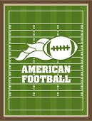 image of football pitch  - American football design over green pitch background - JPG