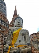 picture of piety  - Buddha ancient  at Yai Chai Mong Kol temple - JPG