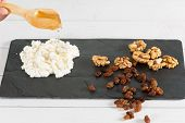 picture of cobnuts  - Hand crafted cheese with nuts and homemade honey - JPG