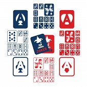 foto of four  - a deck of playing card includes 13 ranks of numbers - JPG