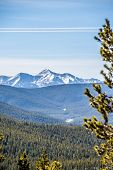foto of monarch  - the colorado rocky mountains near monarch pass  - JPG