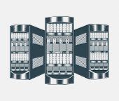 stock photo of mainframe  - Illustration of network server - JPG
