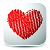 pic of scrabble  - Vector graphics with red heart - JPG