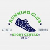 Постер, плакат: Retro Styled Running Club Label or Emblem Template