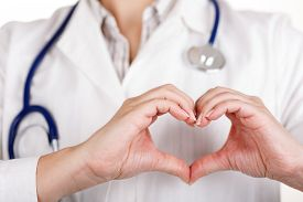 picture of hand heart  - Female doctors - JPG