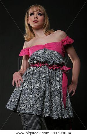 Постер, плакат: Кукла Барби Мода девушка, холст на подрамнике