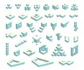 Постер, плакат: Isometric cubes set
