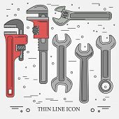 Wrench Icons. Wrench Icons Vector. Wrench Icons Drawing. Wrench Icons Image. Wrench Icons Graphic. W poster