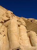 Statues In Temple In Abu Simbel