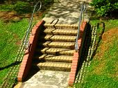 Garden Stairways And Railing