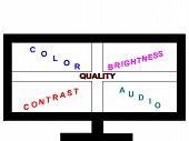 Television Screen Quality Concept