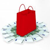 Shopping bag and euro