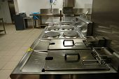 Cooking Range In Professional Kitchen
