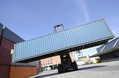 forklift and freight containers