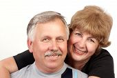 foto of elderly couple  - happy elderly couple in love - JPG