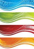 Set Of Four Colourful Banners.eps