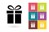 Постер, плакат: Gift vector icon or gift symbol