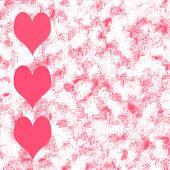 Pink Hearts Grunge Background