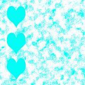 Blue Hearts Grunge Background