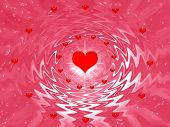 Abstraction  Fantasy For Valentines Day poster