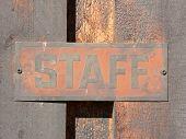 Staff Signage