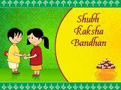 beautiful concept greeting card for rakshabandhan celebration