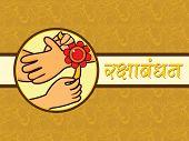 beautiful concept greeting card for rakshabandhan
