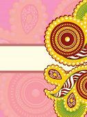 creative design greeting card for rakshabandhan