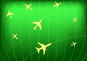 Airplane Routes on Radar Screen