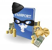 picture of smuggling  - Identity theft concept - JPG