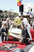 LOS ANGELES - MAY 20: Shrek; Mike Myers; Antonio Banderas at a ceremony where Shrek receives a star